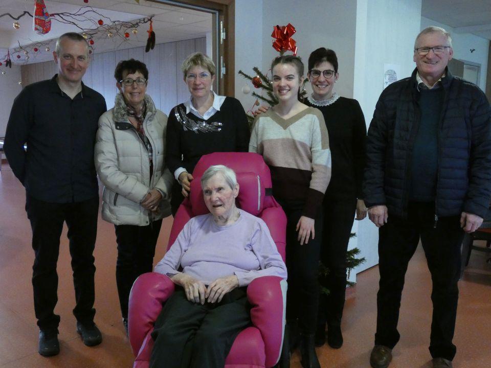 Les 85 ans de Mme Jeanne Schlachter