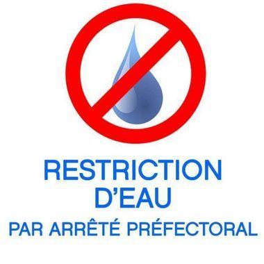 Arrêté préfectoral restriction d'eau